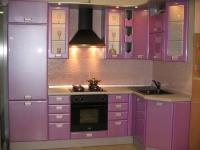 Кухня в розово