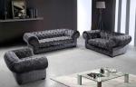 Дизайнерски дивани с тапицерия от микрофибър и кристали Сваровски